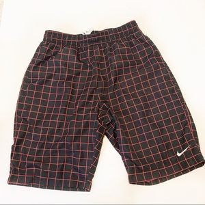 Men's Nike Red/Black Polyester Lined Shorts Sz L